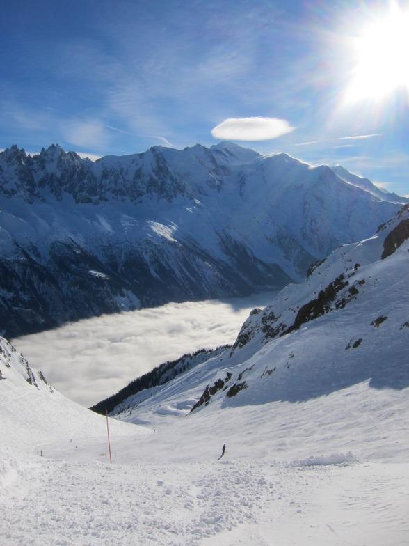 Flegere - cloud inversion, Chamonix