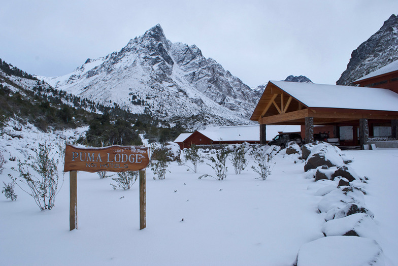 The base camp. PumaLodge, Puma Lodge - Chilean Heliski