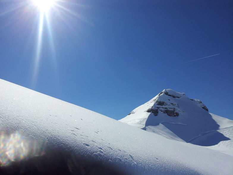 Top of the Cascade run, Flaine