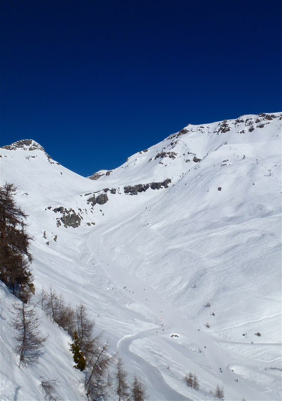 PLAINE MORTE ski run, Crans Montana