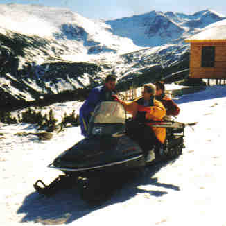 going to the gondelastation on the top in 2001!, Borovets