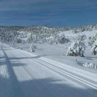 """Nordic area: le """"Schuss"""", Gréolières Les Neiges"""