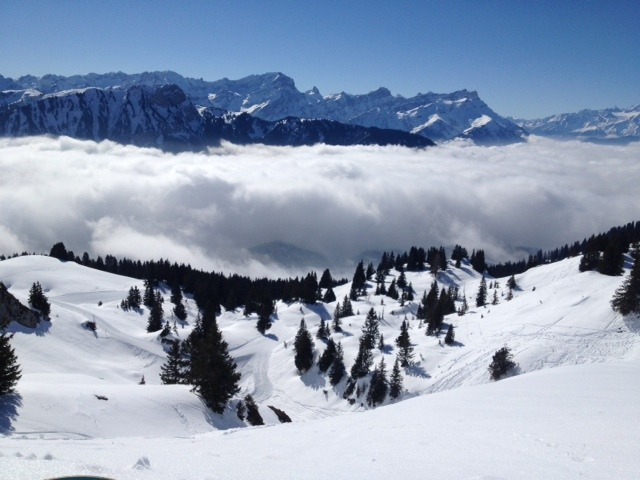 Above the clouds, Leysin