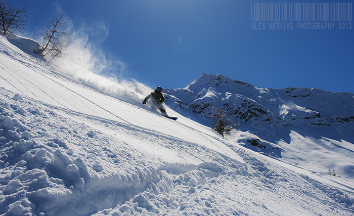 Last powder day, Sainte Foy