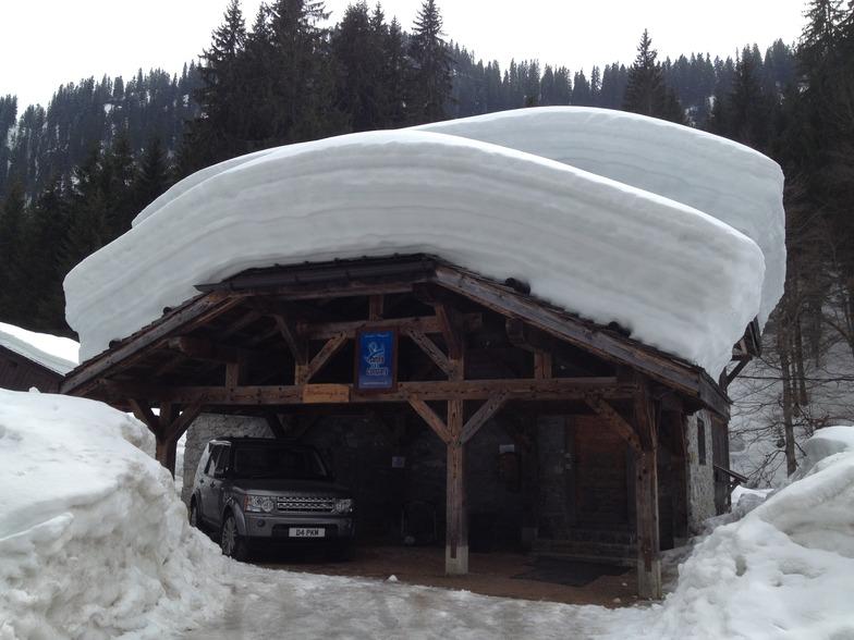 Snow depth in April !, Les Gets