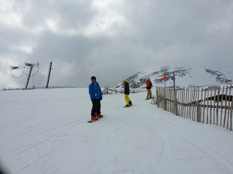 Mid-April snow at Glenshee