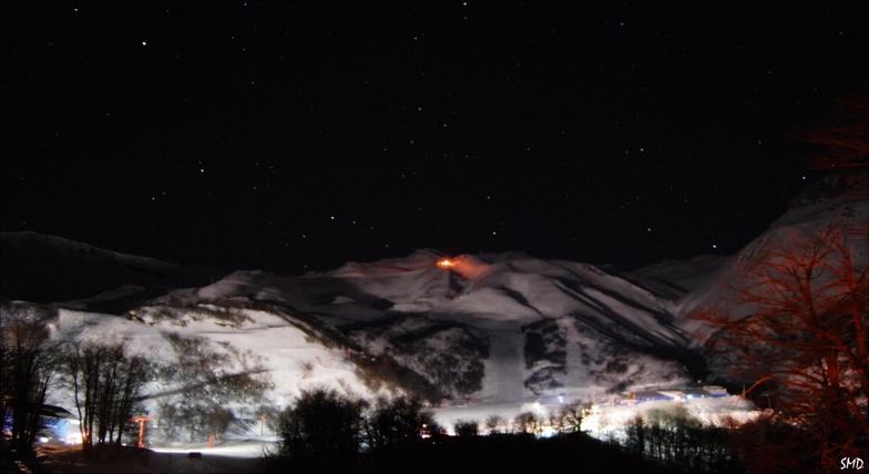 Noche volcanica, Nevados de Chillan