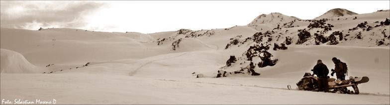 sled, Nevados de Chillan