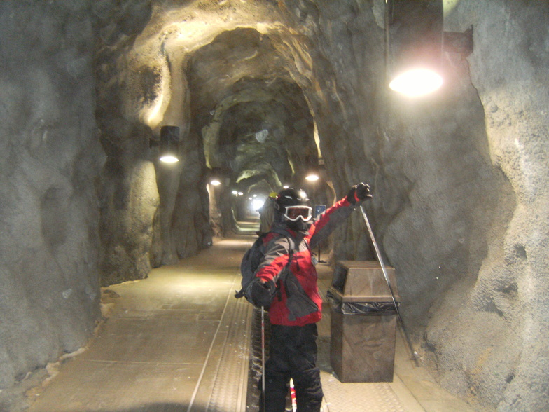 Snowbird tunnel through mtn. to acess backside mineral springs