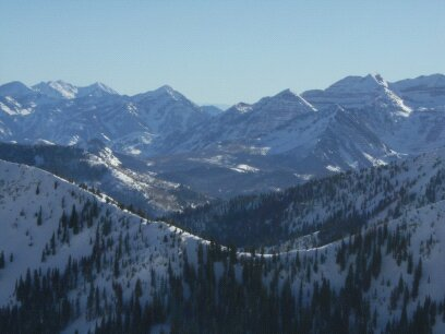 views from top of tram, Snowbird