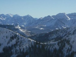 views from top of tram, Snowbird photo