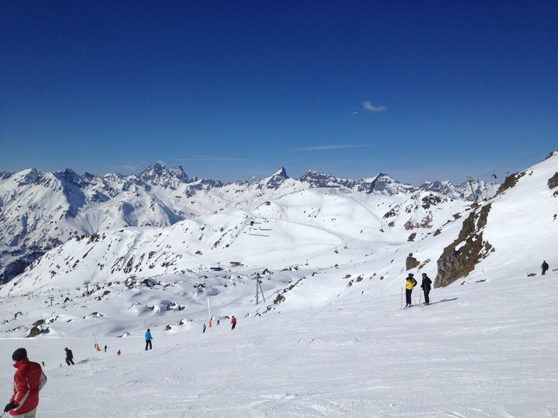 Looking down to Idalpe, Ischgl