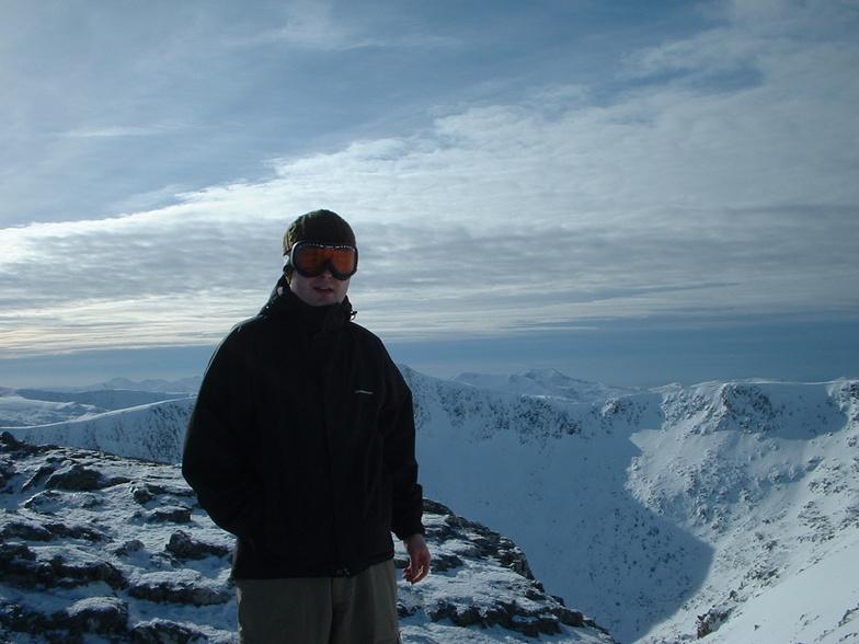 Dazza boy at the summit, Glencoe Mountain Resort