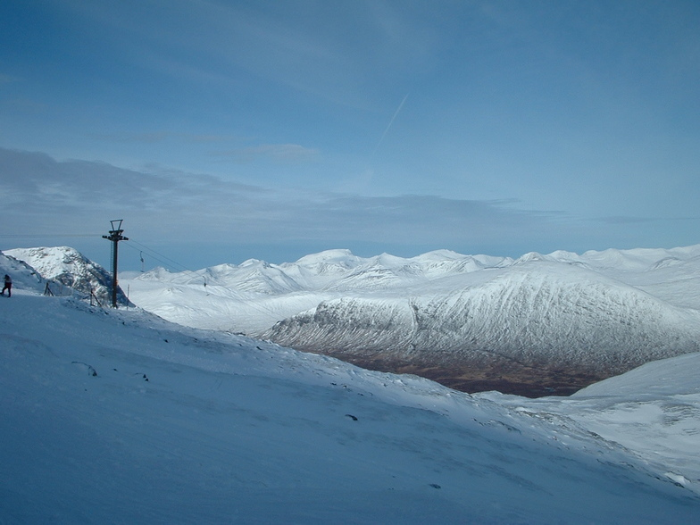 Looking out towards the Nevis range from glencoe