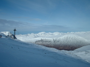 Looking out towards the Nevis range from glencoe photo