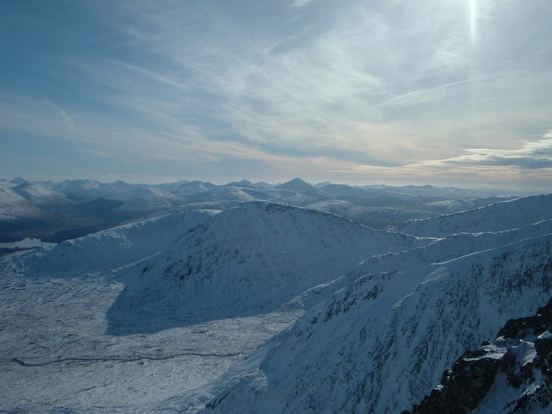 Looking south from glencoe summit, Glencoe Mountain Resort