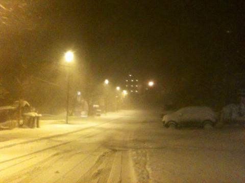 Snow arrives, Farellones