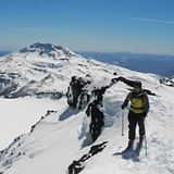Ski Touring at Volcan Lonquimay, Chile