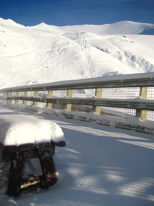 Fresh snow, Mount Cheeseman