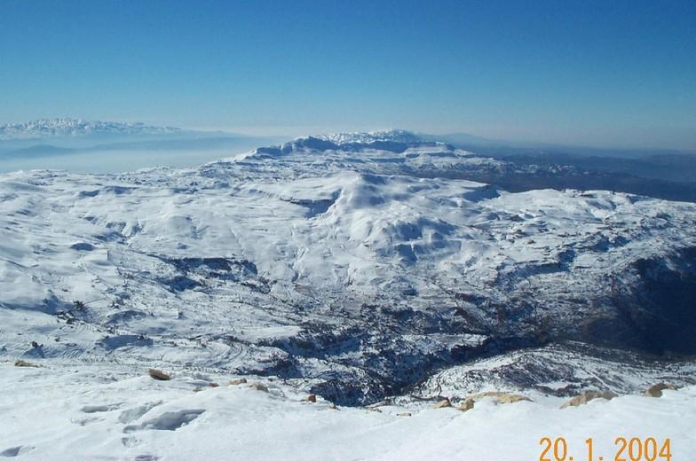 View from top of Faraya resort, Lebanon, Mzaar Ski Resort