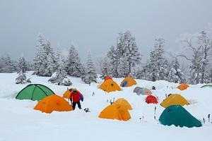 Camping on New Years Eve., Shinhotaka Ropeway photo