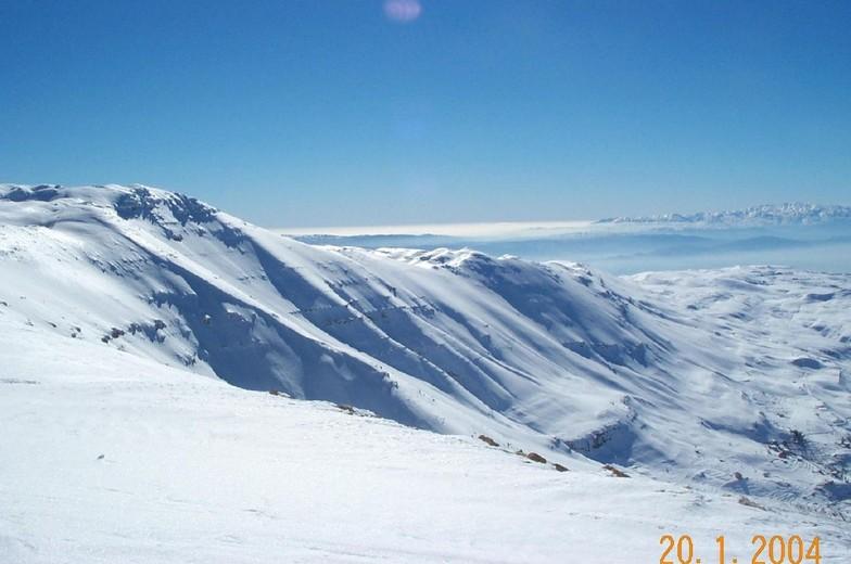 On top of Faraya Resort, Lebanon, Mzaar Ski Resort