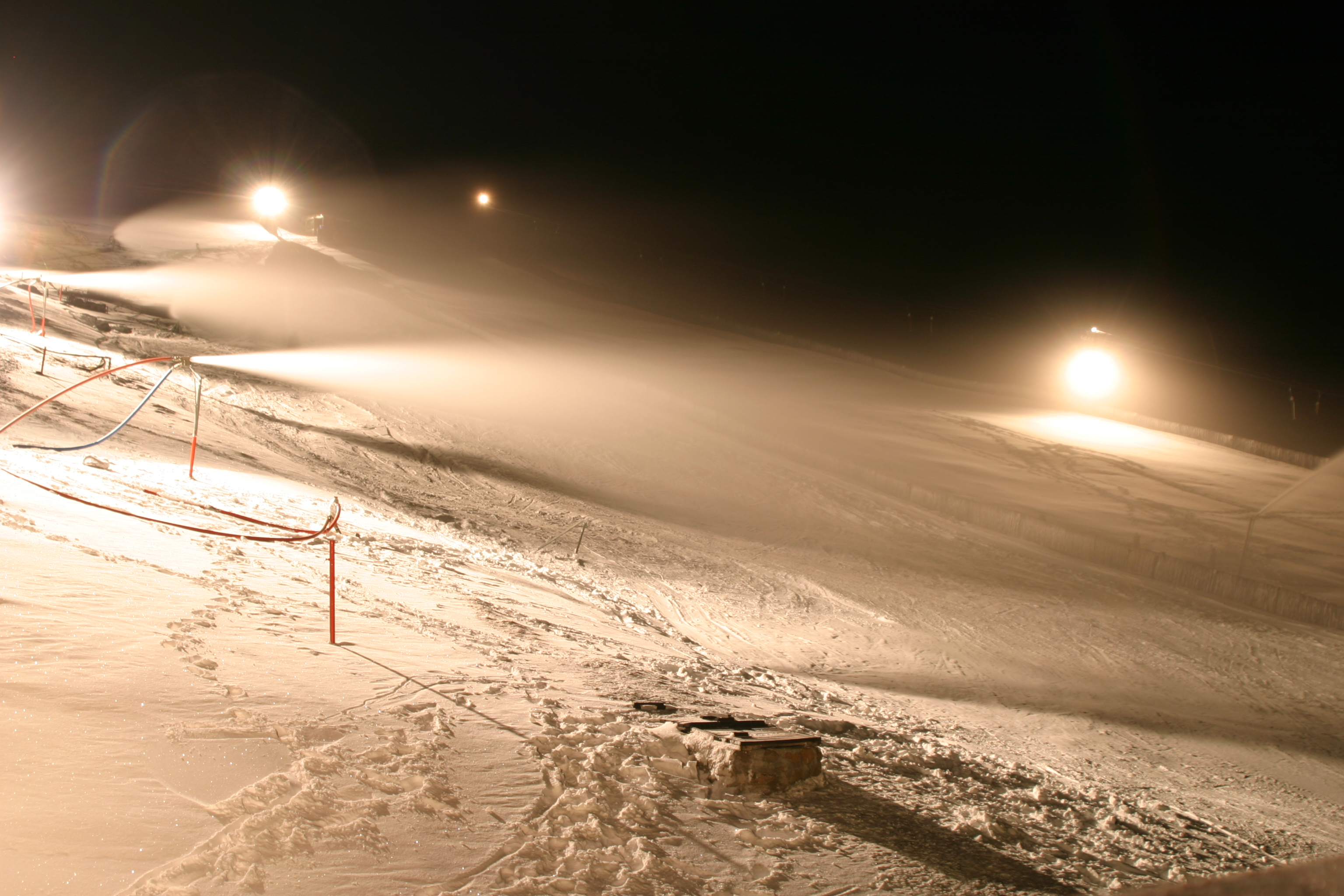 Snow making on the go, Tiffindell