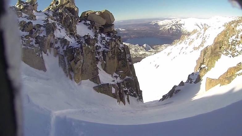 Hidden powder chute, Cerro Catedral