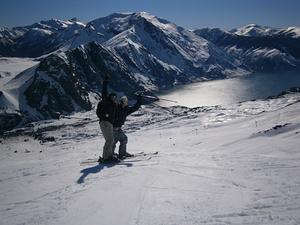 Skiando con mi hermana y mi amigo Felipe Daroch, Antuco photo