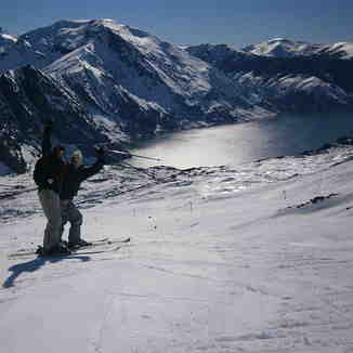 Skiando con mi hermana y mi amigo Felipe Daroch, Antuco