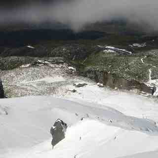 Manganui Snow: View from top of No.3 Valley