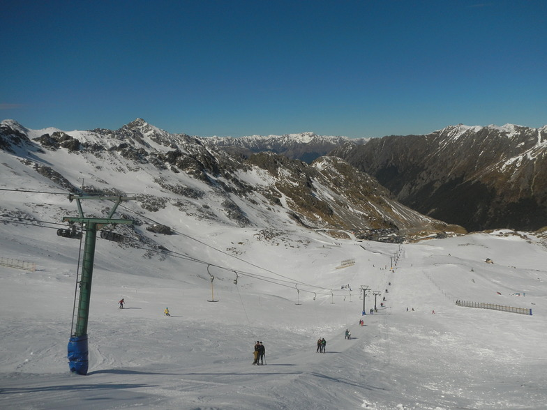 Top of T lift on Rainbow Ski field