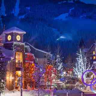 Night time in the village, Whistler