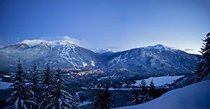 Dual Mountain Panorama, Whistler Blackcomb photo