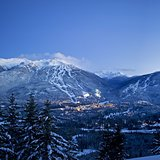 Dual Mountain Panorama, Canada - BC