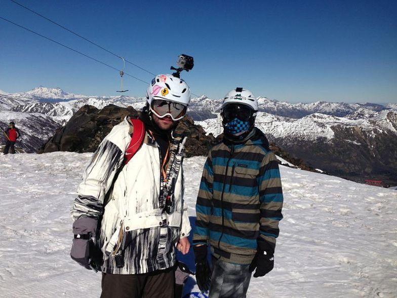 PAI E FILHO NA MONTANHA, Nevados de Chillan