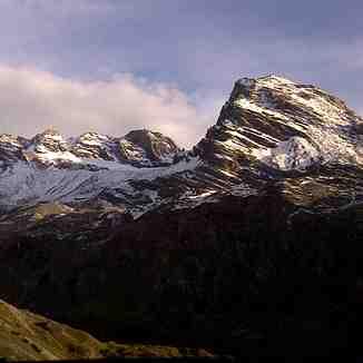 Starting winter on Alps, Passo Dello Stelvio Stilfserjoch