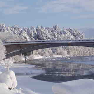 The Lecht Snow: bridge over spey