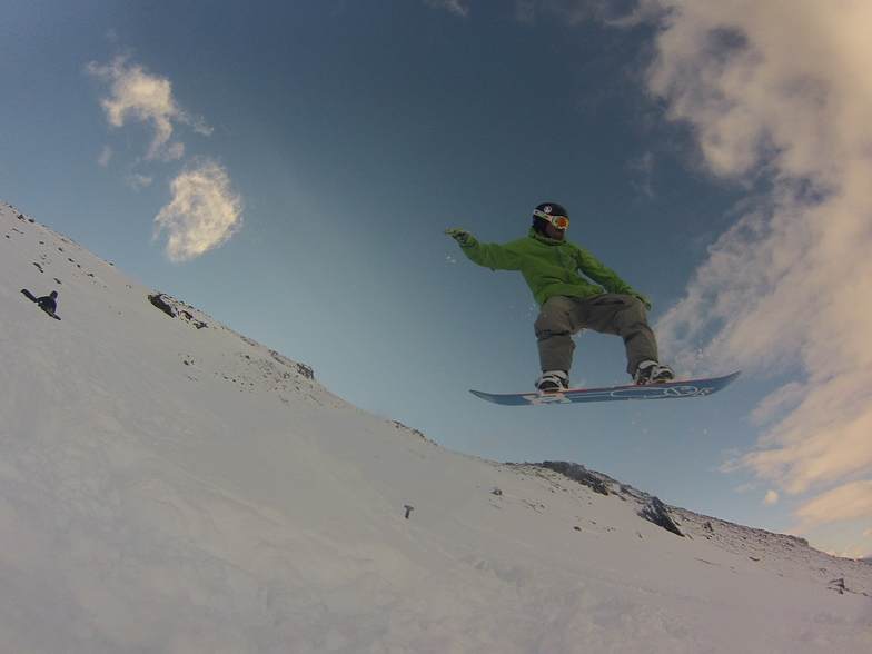 Flying deep powder, Cerro Castor