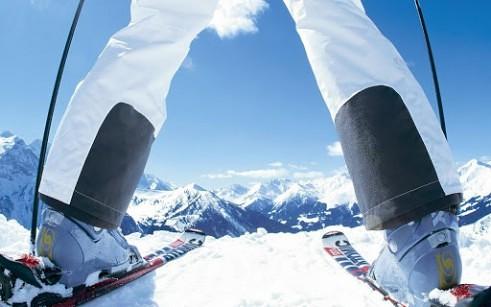 Skiing in MontGenevre, Montgenèvre (Via Lattea)