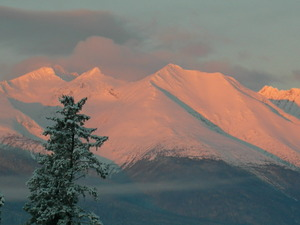 Winter Sunrise, Hudson Bay Mountain photo
