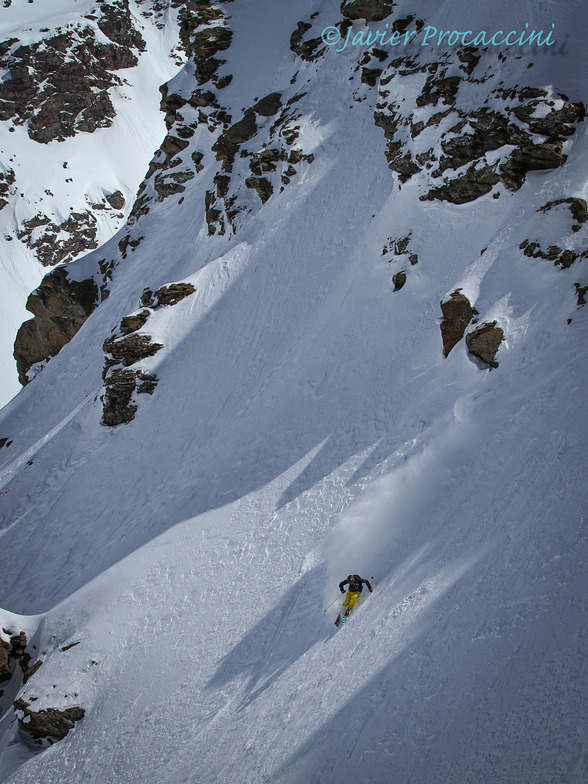 Freeride at Lagalb with Lucas Swieykowski, Diavolezza-Lagalb
