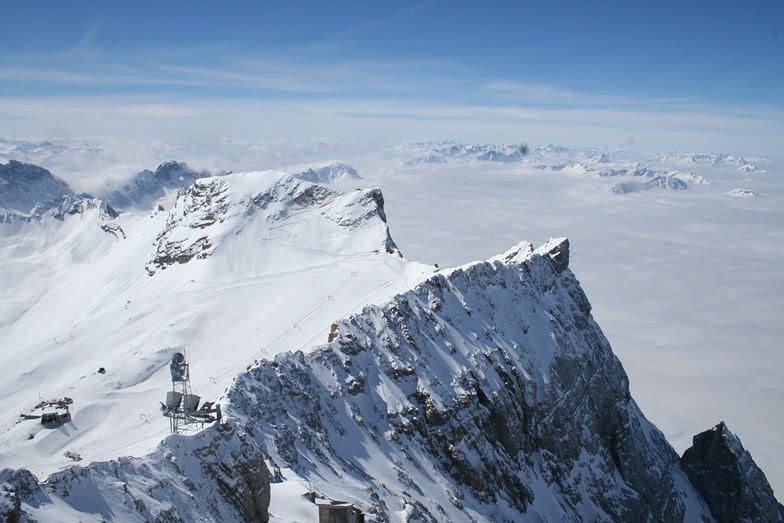 Schneeferner über Wolkenmeer, Garmisch-Partenkirchen-Zugspitze