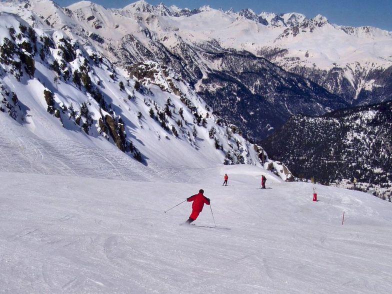Telemark on skiruns of Montgenevre (Via Lattea) 02, Montgenèvre (Via Lattea)