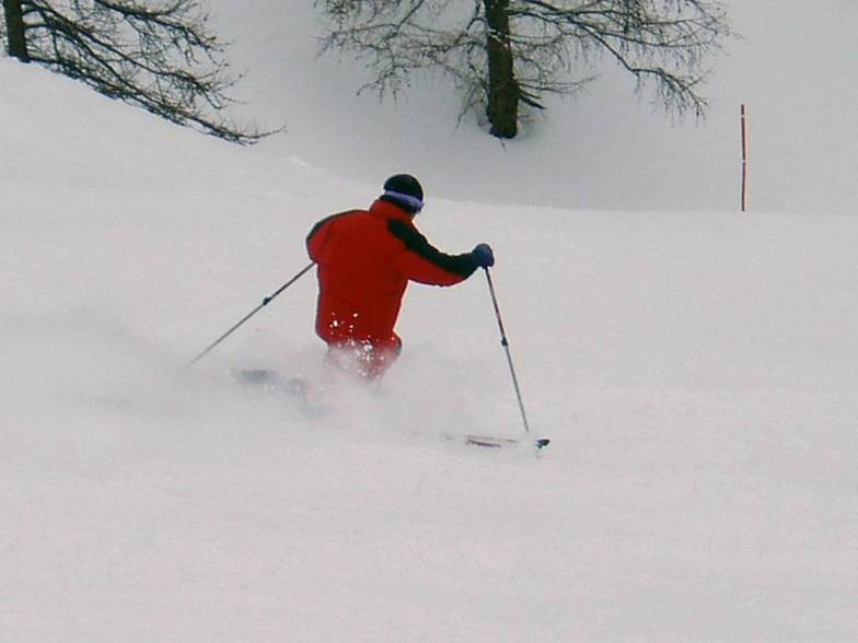 Telemark on skiruns of Montgenevre (Via Lattea) 01, Montgenèvre (Via Lattea)