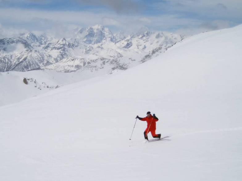 Telemark on skiruns of Montgenevre (Via Lattea), Montgenèvre (Via Lattea)