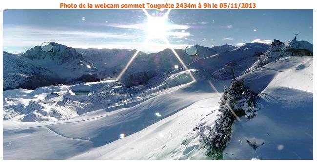 Tougnette summit Meribel 5/11/13, Méribel