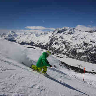 Telemarking with Wyss Snowsport's instructor SOLO, Corvatsch-Furtschellas