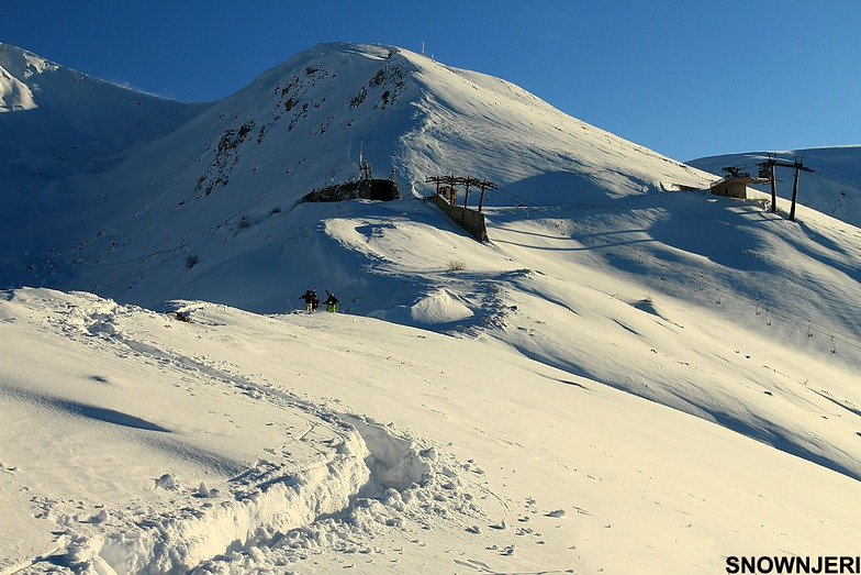 Aproaching the top station, Brezovica