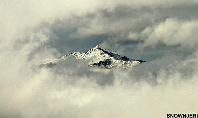 Cloud frame around Pashallore mountain, Brezovica